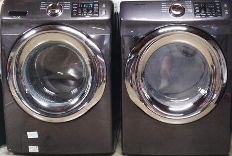 Samsung 4 5 Cu Ft High Efficiency Front Load Washer And 7