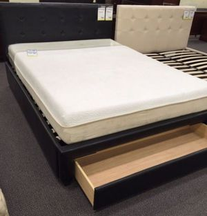 Brand New Queen Size Leather Platform Bed w/Storage Drawer for Sale in Silver Spring, MD
