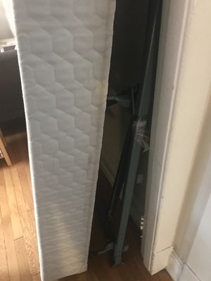 Queen box spring and adjustable metal frame. Must be picked up together. Free if you pick up from Colombia Heights. for Sale in Washington, DC