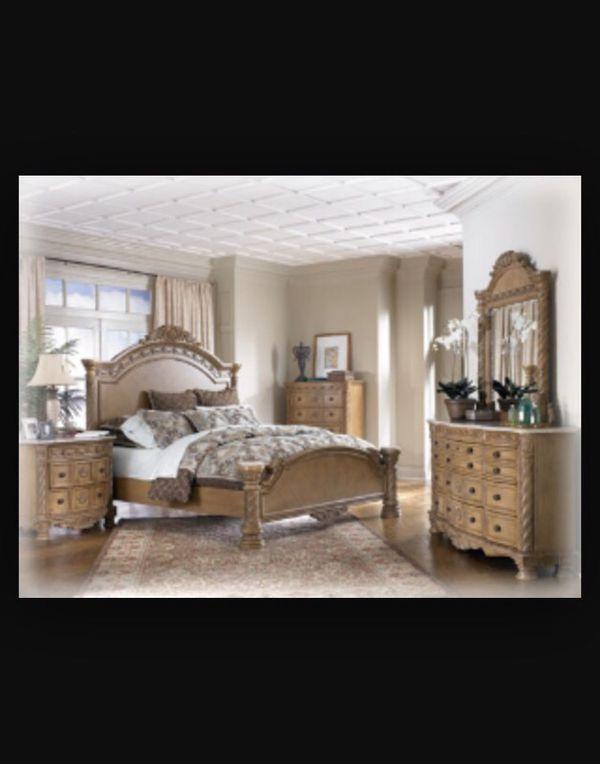 Ashley furniture - marble top King bedroom set - South Coast ...
