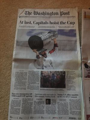 Washington Post Newspaper Stanley Cup Collectible Paper for Sale in Fairfax Station, VA
