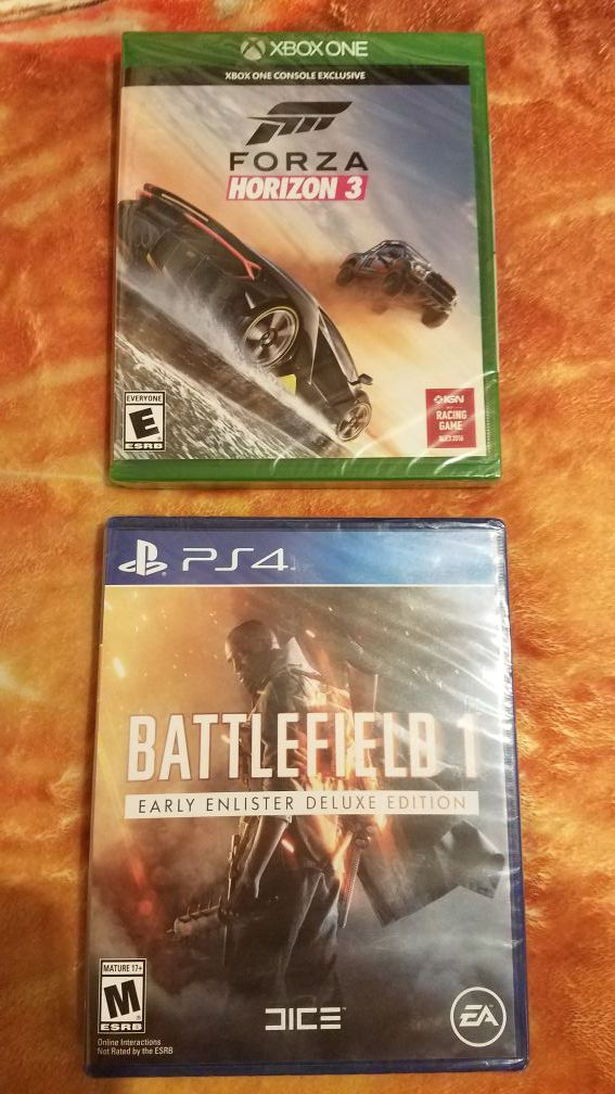Ps4 xbox one games battlefield 1 forza horizon 3 new sealed for Sale in  Seattle, WA - OfferUp