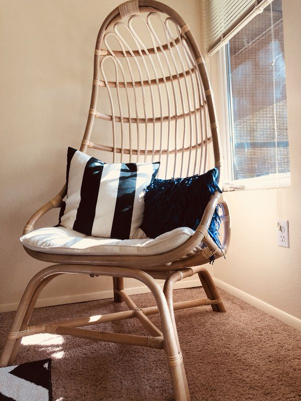 Natural Rattan Fallon Cocoon Chair With Cushion For Sale In Seattle Wa Offerup
