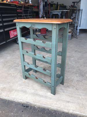 Photo Small oak wine rack/Side Table