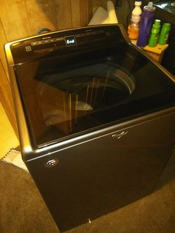 Ashley sectional and end tables and whirlpool washer and dryer Thumbnail