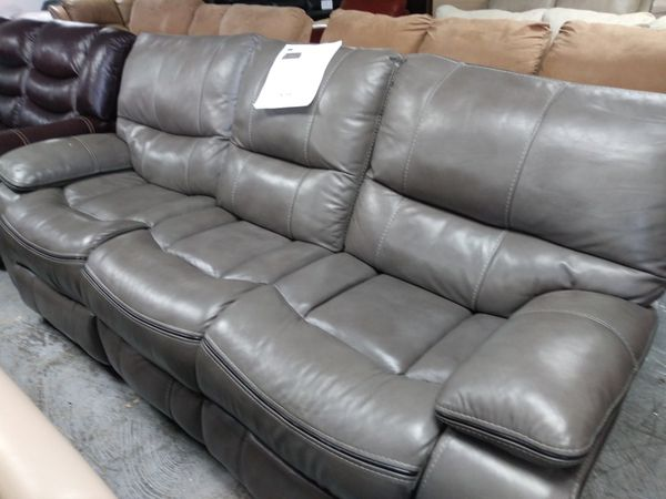 Admirable Cindy Crawford Gray Leather Reclining Sofa For Sale In Unemploymentrelief Wooden Chair Designs For Living Room Unemploymentrelieforg