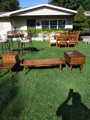 Two end tables and a coffee table from the 1950s excellent condition for Sale in Kissimmee, FL