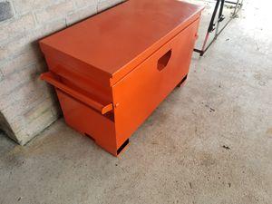 Photo Job Box. Work site construction tool box with lock