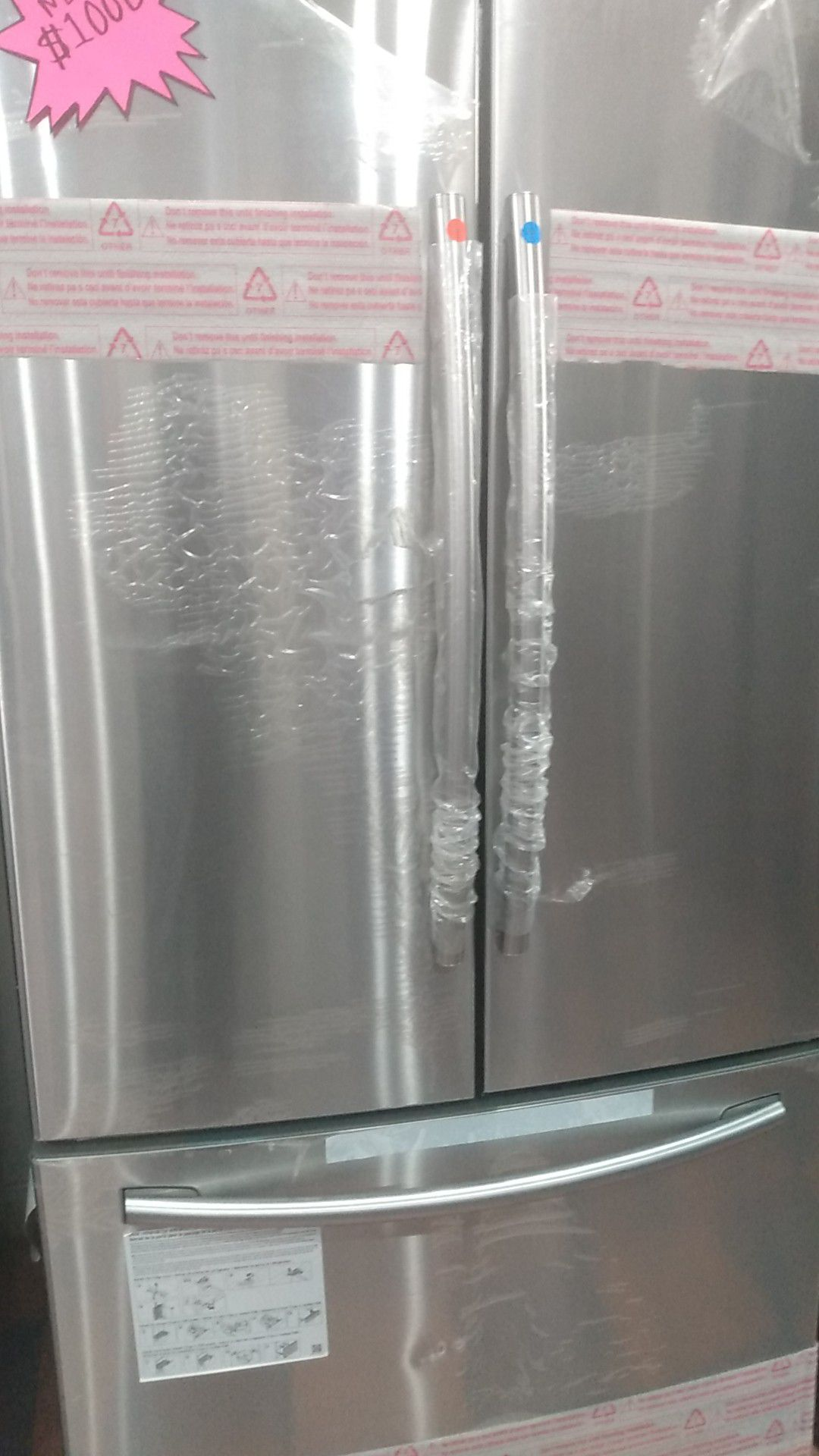 Samsung refrigerador fresh door stainless steel 90 days warranty delivered and installation avalable 1 year free labor$1000