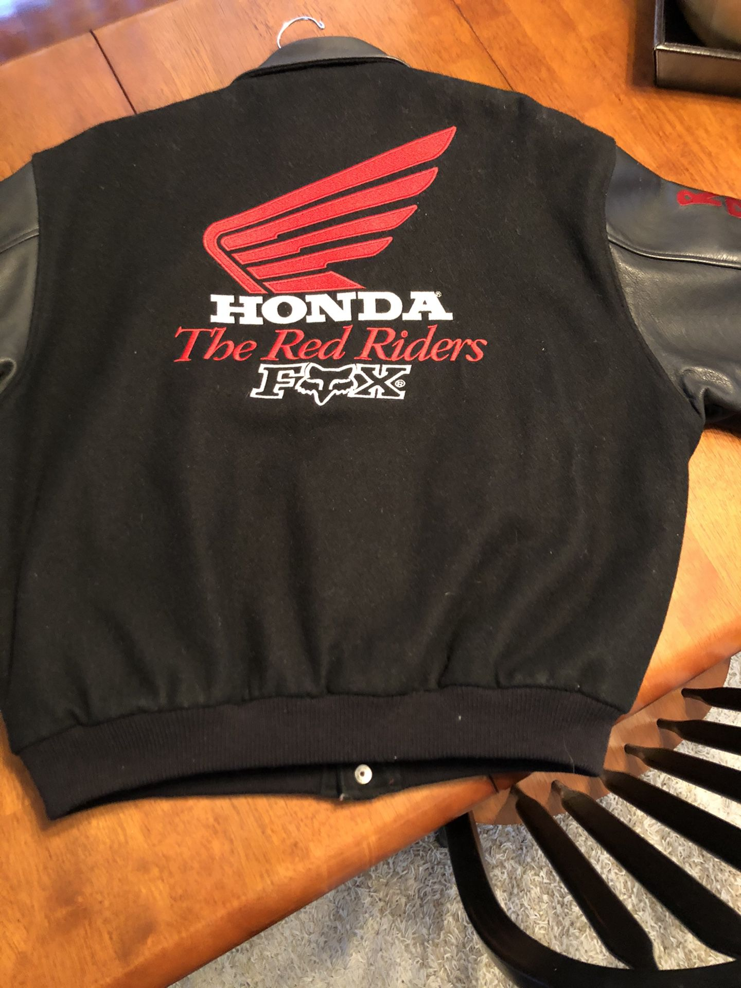 Vintage Fox Honda Ride Red XL jacket