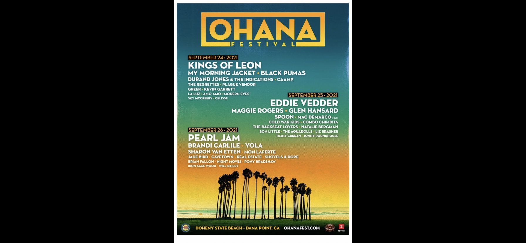 OHANA festival Tickets Pearl Jam!