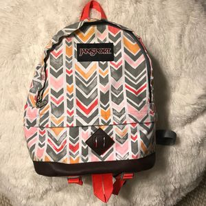 JanSport Beatnik Backpack Coral Chevrons for Sale in Los Angeles, CA