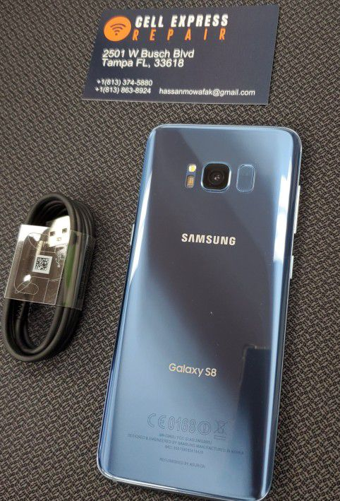 Samsung S8 UNLOCKED LIKE NEW CONDITION WITH 30 DAYS WARRANTY