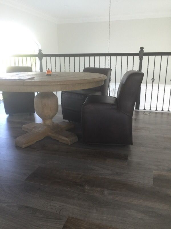 Restoration Hardware Bruno Leather Dining Chair