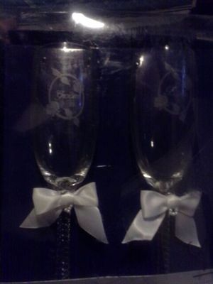 Bride and groom glasses for Sale in Pittsburgh, PA
