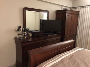 Five piece bedroom set, dressers, queen size bed, nightstands. for Sale in Falls Church, VA