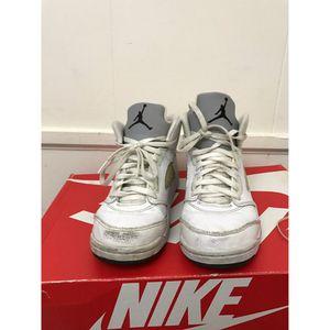 Jordan 5 (Metallic white) Sz 3Y for Sale in Hyattsville, MD