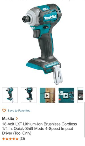 New Makita 18V LXT® Lithium‑Ion Brushless Cordless Quick‑Shift Mode™  4‑Speed Impact Driver for Sale in San Diego, CA - OfferUp