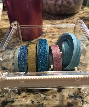 New 6 Rolls of Glitter Washi Tape for Sale in Inwood, WV