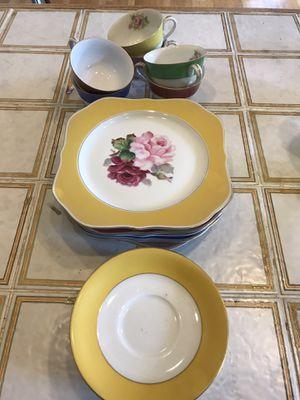 Photo Wako China tea cups and dessert plates