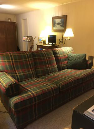 Sofa and Matching Chair w/ Ottoman for Sale in Fairfax, VA
