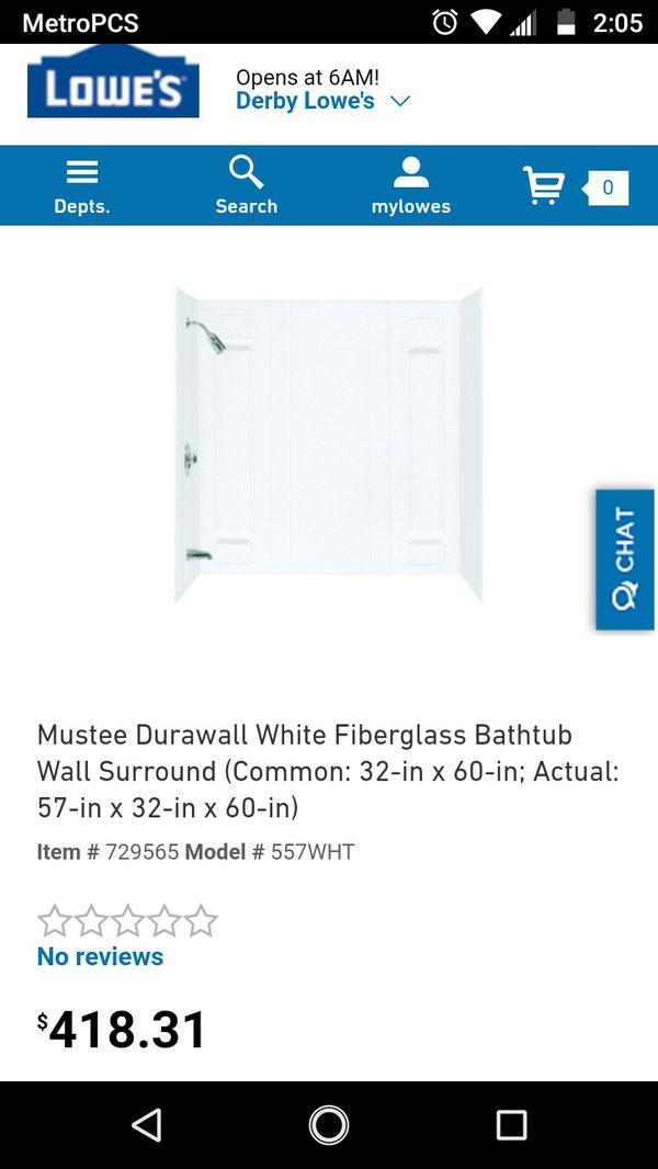 Mustee Durawall Bathtub Wall for Sale in Wichita, KS - OfferUp