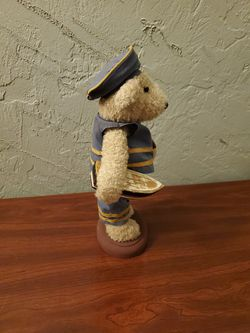 Nautical Bear Holding A Boat And Life Saver Floater  Thumbnail