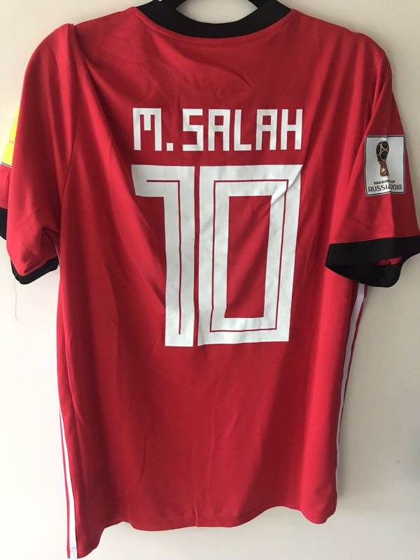 Adidas SALAH EGYPT World Cup Jersey Red Large for Sale in ... 129a3925a