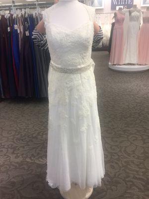 David's bridal size 14p ivory wedding dress NWT for Sale in Lorton, VA