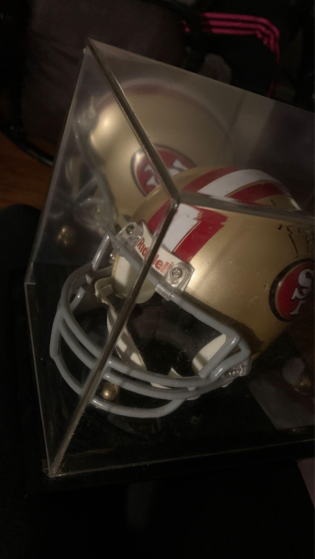 Autographed San Francisco 49er helmet