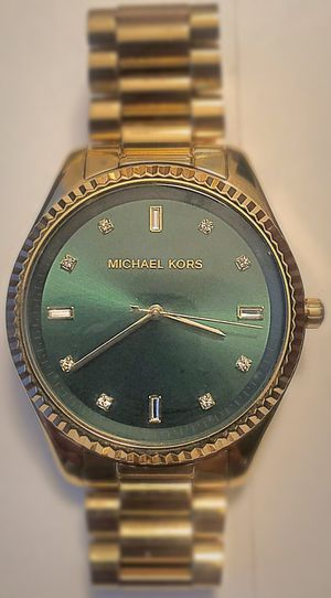 Photo Michael Kors Watch-Gold with Green face.