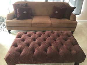 Ralph Lauren Couch and Ottoman for Sale in Lorton, VA