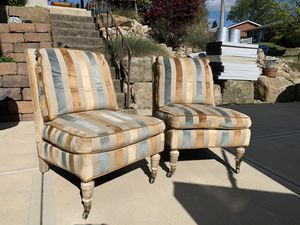 Photo Pick up today set of lovely custom made accent chairs