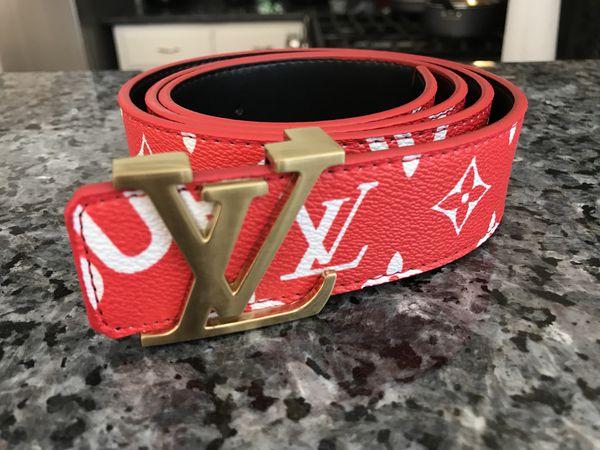 b11113a8875b Red Louis Vuitton LV Supreme Belt! Size 32-36! Brand New Highest Quality! Las  Vegas ...