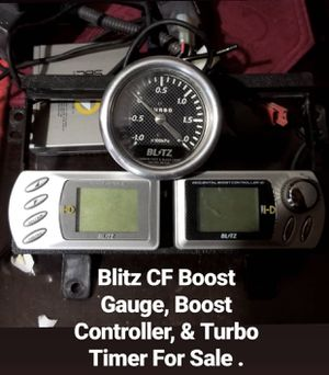 Blitz CF Boost Gauge, Boost Controller, and Turbo Timer . for Sale in Phoenix, AZ