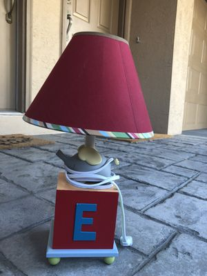 Small elephant alphabet nursery table lamp. $5. for Sale in Tampa, FL