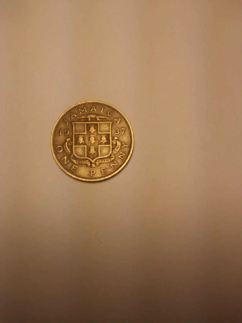 1937 Jamacia One Penny