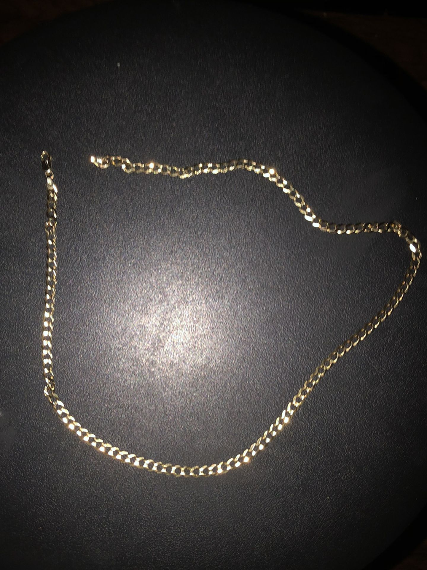 """14K Gold Cuban Chain , 22"""""""