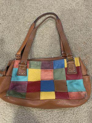 Photo Fossil multicolor leather handbag purse