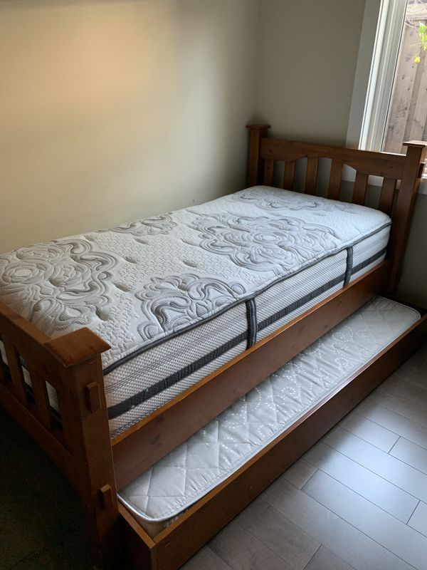 Pottery Barn Kids Bed with Trundle and Mattresses for Sale ...