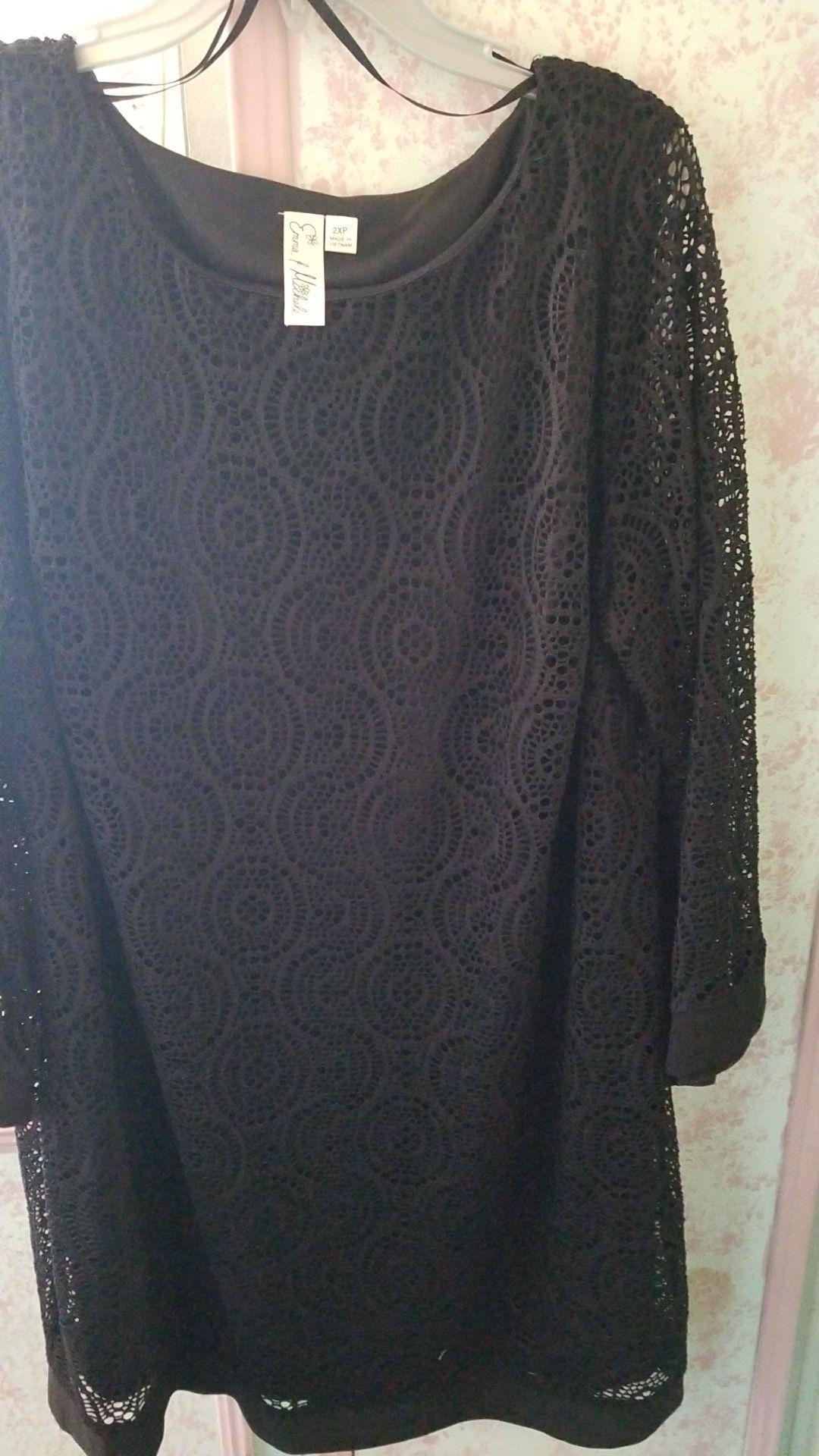 Womens dress 2pc black