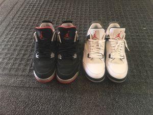 Deal! Nike Air jordan white Cement/Bred 4s for Sale in Oakton, VA