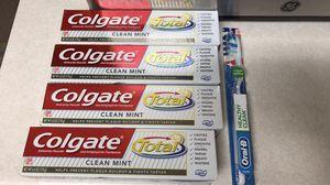 Colgate toothpaste oral b toothbrush for Sale in Fort Belvoir, VA
