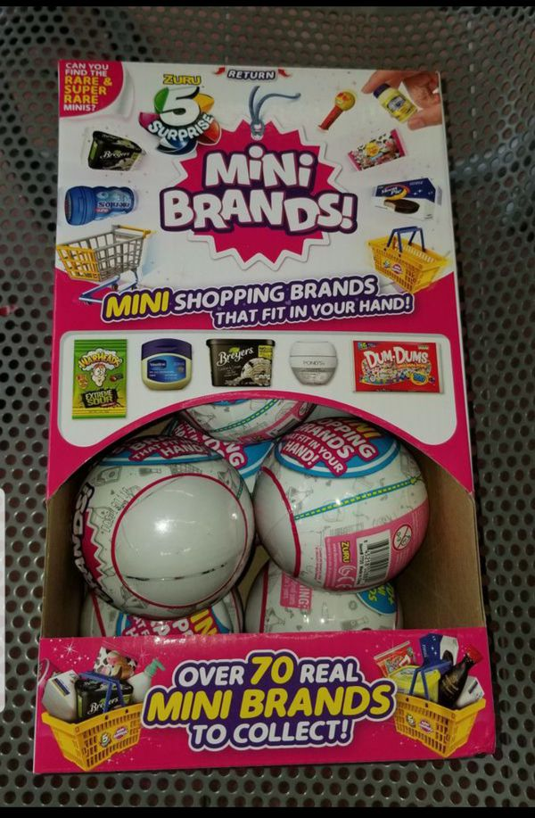 Brand New Unopened 5 Surprise White Mini Brands Made By Zuru For