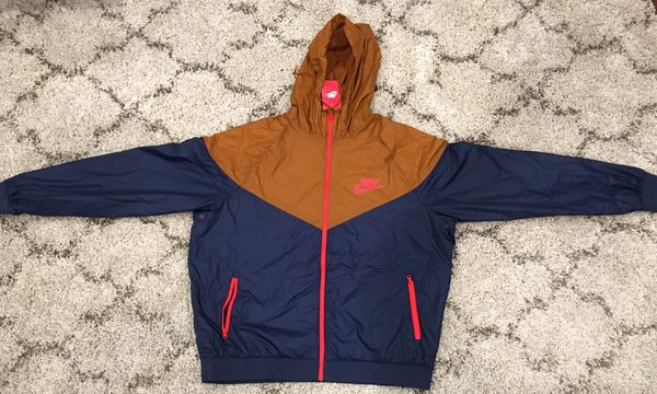 878451f264fe NIKE WINDRUNNER JACKET NAVY ORANGE RED BRAND NEW WITH TAGS NEVER WORN