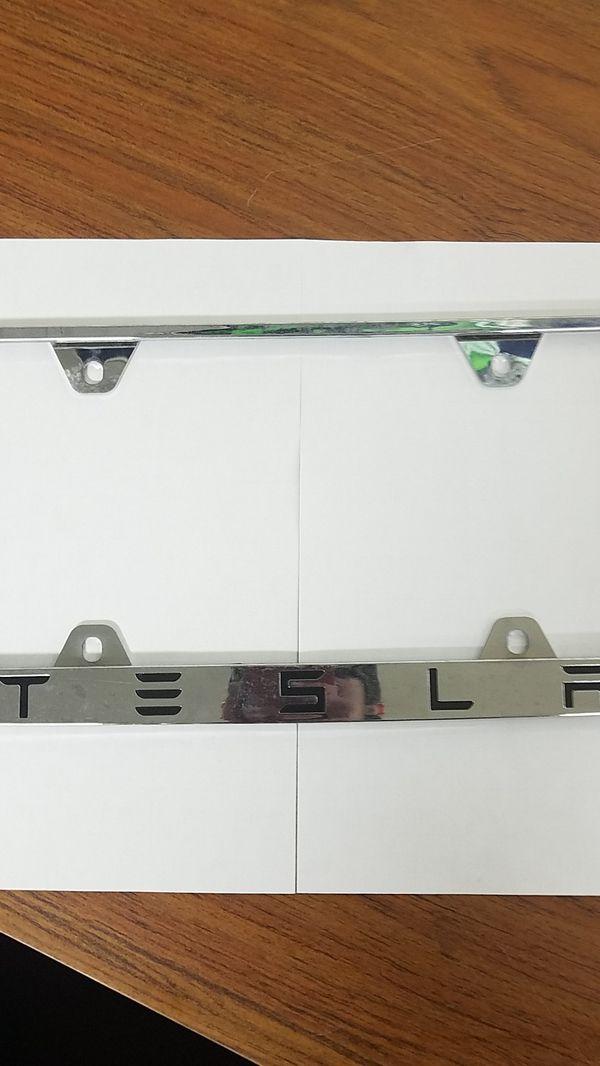 TESLA License Plate Frame for Sale in Tacoma, WA - OfferUp