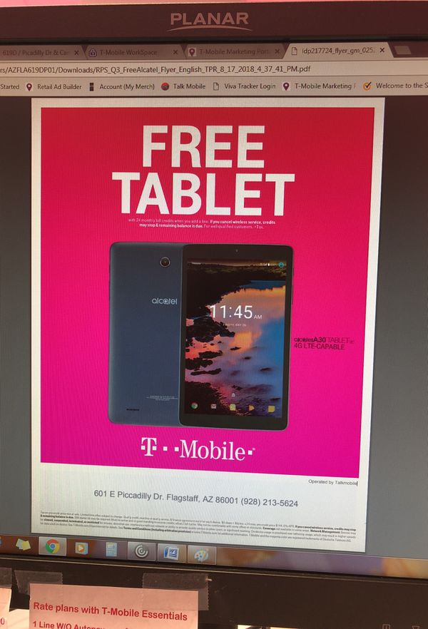 T-mobile in Aspen place on Piccadilly dr , when you add a