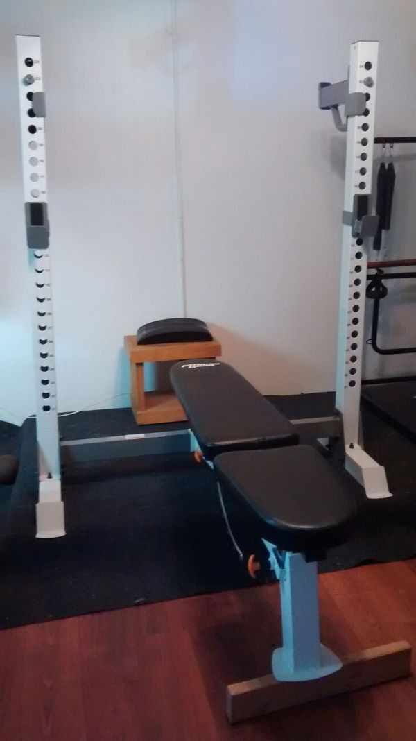 Fitness Gear Adjustable Bench Press Squat Rack For Sale In Tacoma