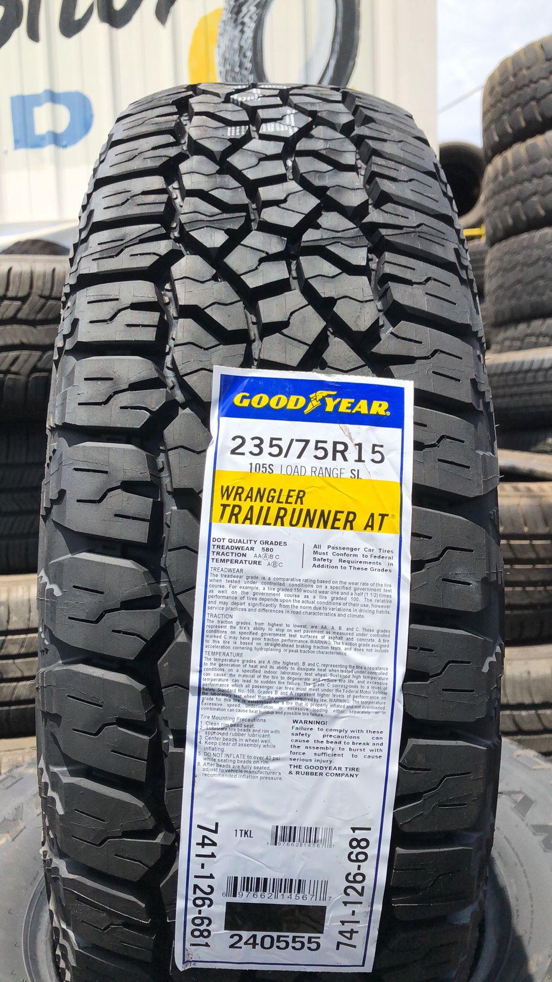 235/75R15 Goodyear Wrangler Trail Runner