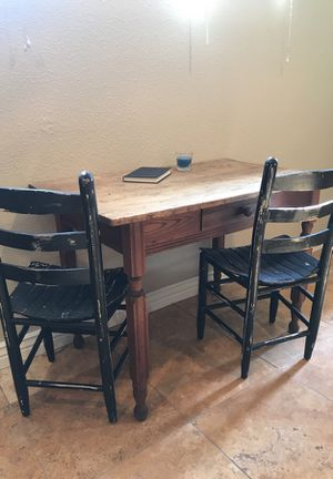 Wooden Table + 4 Chairs for Sale in Denver, CO
